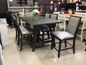 F2495 7 PCS COUNTER HEIGHT DINING SET