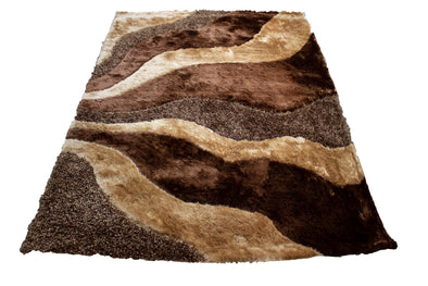 Signature Shaggy Area Rug (Beige) New-L3