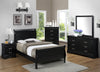 B3950 Louis Philip Modern Black Finish Bedroom Set