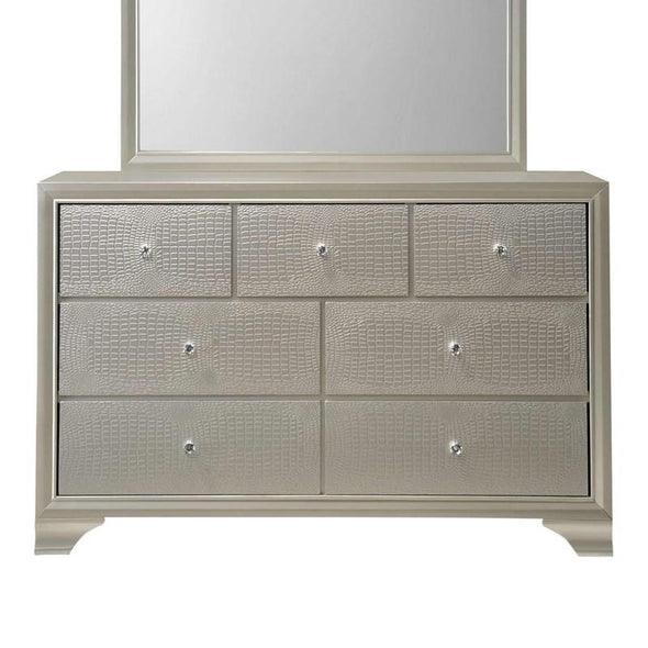 B4300 LYSSA BEDROOM GROUP-LED backlit headboard panel