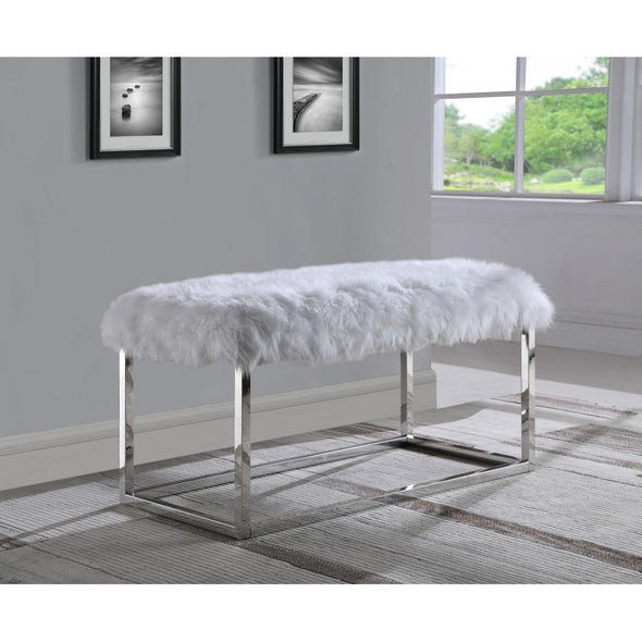AC821 FUR BENCH White
