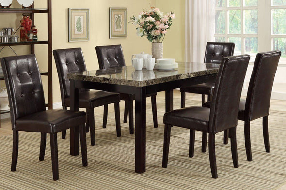 7 Pcs Dining Set F2093 Black