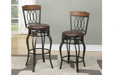 "Swivel Bar Stool f1523 2 Pcs 29""H Seat"