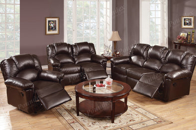 Motion Set Sofa Love Seat and Recliner F6674