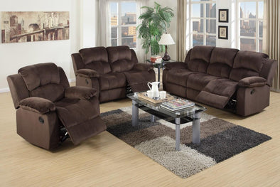 Motion Set Sofa Love Seat and Recliner F6711