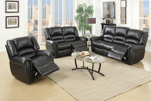 Motion Set Sofa Love Seat and Recliner F6749