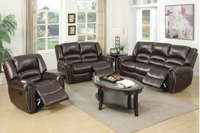 Motion Set Sofa Love Seat and Recliner F6753