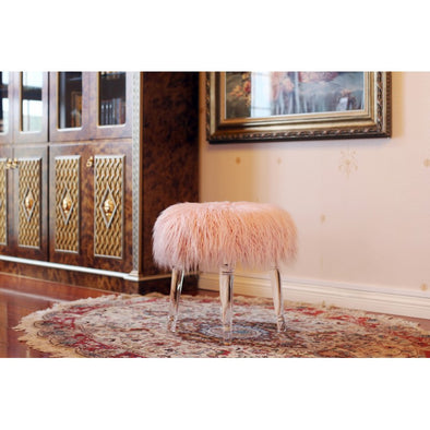AC713 FUR BENCH Pink
