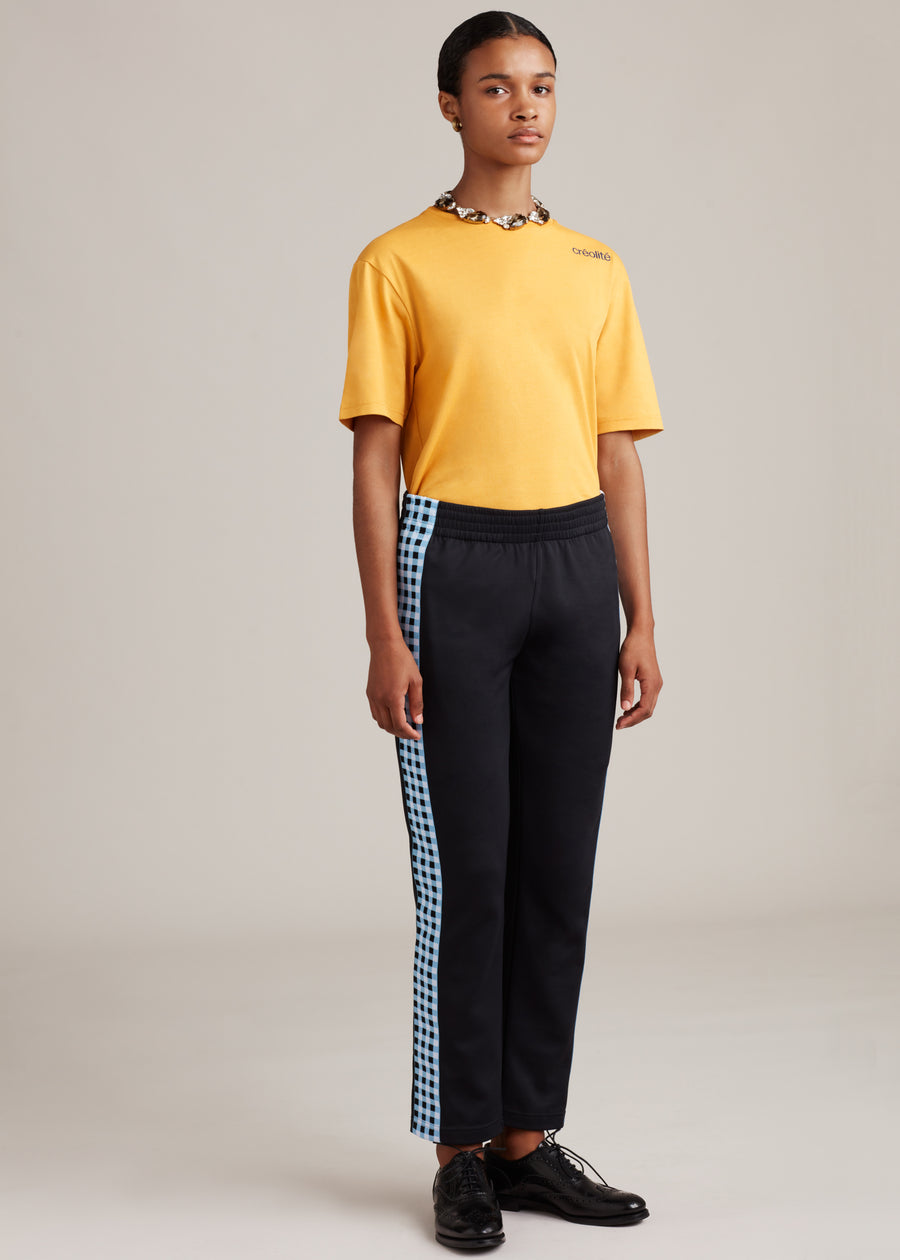 Check Side Stripe Trackpants