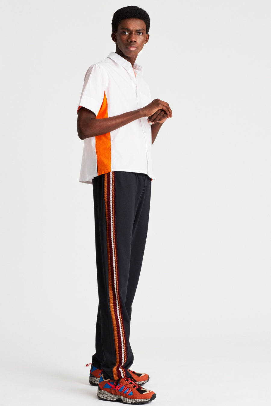 Slim Palms Crochet Stripe Trackpants