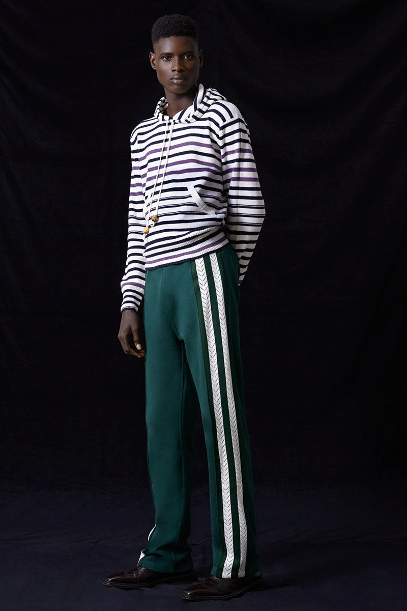 Palms Crochet Stripe Trackpants