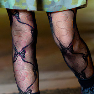 Girls Lace Design Tights - Style: 315