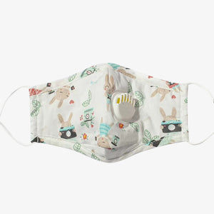 Cotton Reusable Face Mask + Two Filters - Style: 960