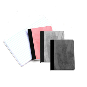 Faux suede mini composition book Ruled paper
