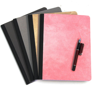 Faux suede composition book Ruled paper
