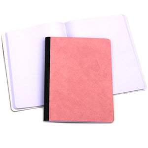 Faux suede composition book Custom cover Ruled paper