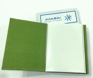 Custom illustrated photo album. In 15 linen colors