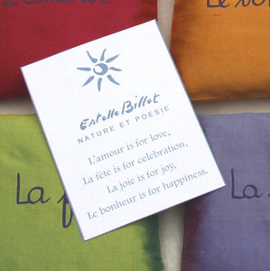 3 silk lavender sachets available in 5 color sets
