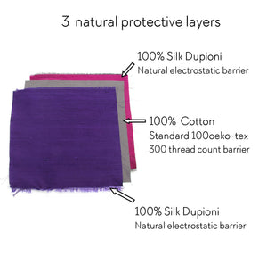 3 layers Dupioni silk mask available in 6 colors