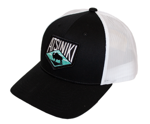 Atsiniki Trucker Hat — Black/White