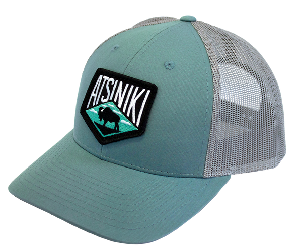 Atsiniki Trucker Hat—Smoke Blue/Aluminum