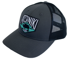 Atsiniki Trucker Hat—Charcoal/Black