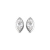 14K Diamond Marquese Earrings 1/6 ctw