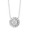 14K Diamond Pendant 1/3 ctw