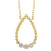 14K Diamond Necklace 1/8 ctw