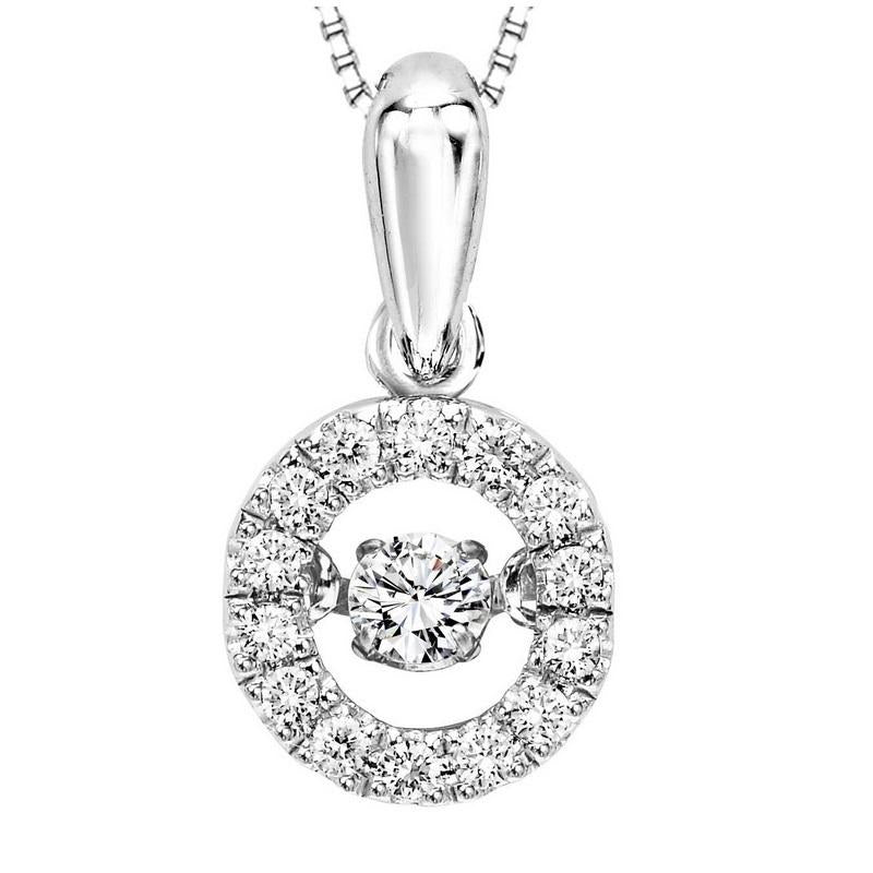 10KW Diamond Rhythm Of Love Pendant 1/5 ctw