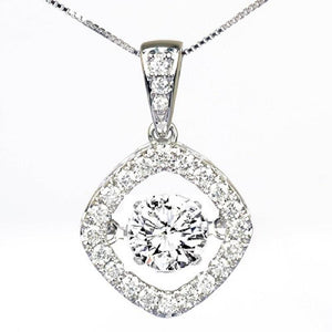 14KW Diamond Rhythm Of Love Pendant 1 ctw