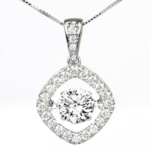 14KW Diamond Rhythm of Love Pendant 2 ctw