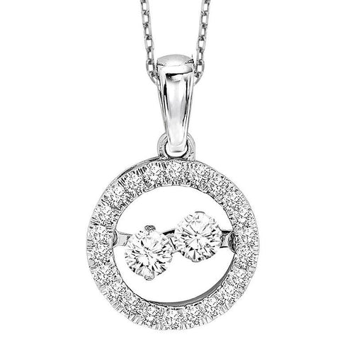 10KW Diamond Rhythm Of Love Pendant 1/3 ctw