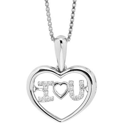 10KW Diamond Rhythm Of Love Pendant