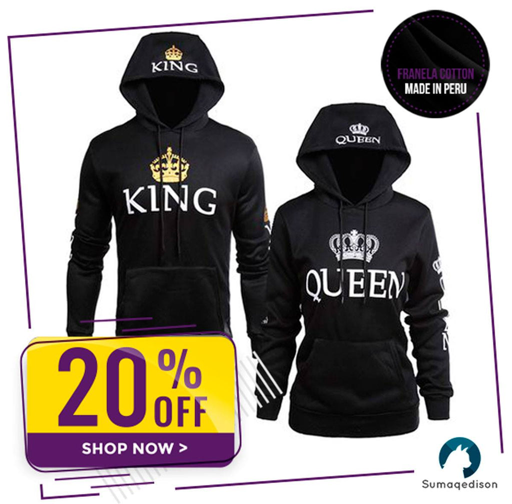 Queen and King Matching Couple Hoodie Sweatshirts