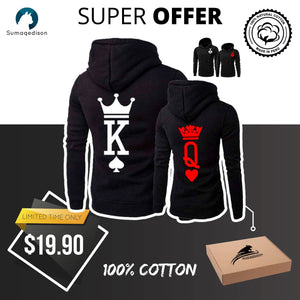 king and Queen Hoodie