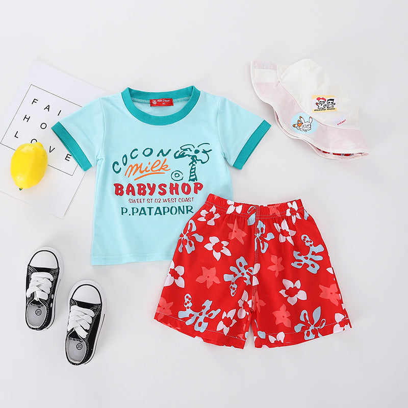 twin infant clothing baby boy summer cloth set