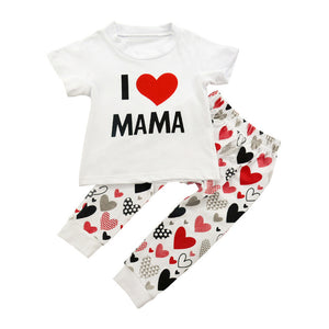 2Pcs Newborn Girls Clothing Sets