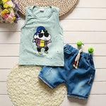 lovely new born baby boy clothes set 2pcs set