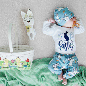 Newborn Baby Girl Boy Cartoon First Easter Bunny Outfits