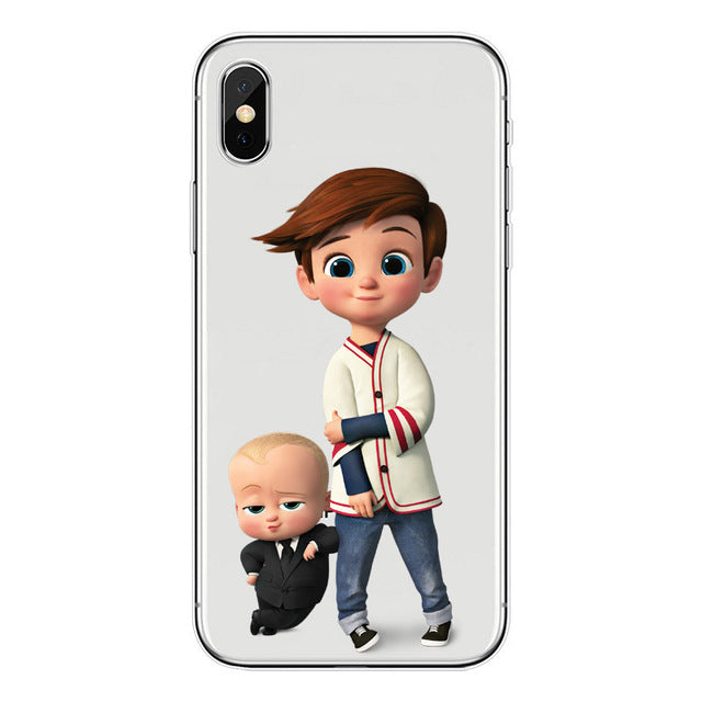 Baby Boss soft TPU Phone Case For iPhone X 6 6S 7 8 Plus 5S SE 7 8 XS MAX transparent Silicone