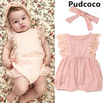 Baby Clothes Newborn Kids Baby Girls Cotton Sleeveless Romper Jumpsuit Outfits Clothes Size  0-24M