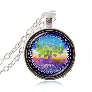 Yin yang Tree of Life necklace