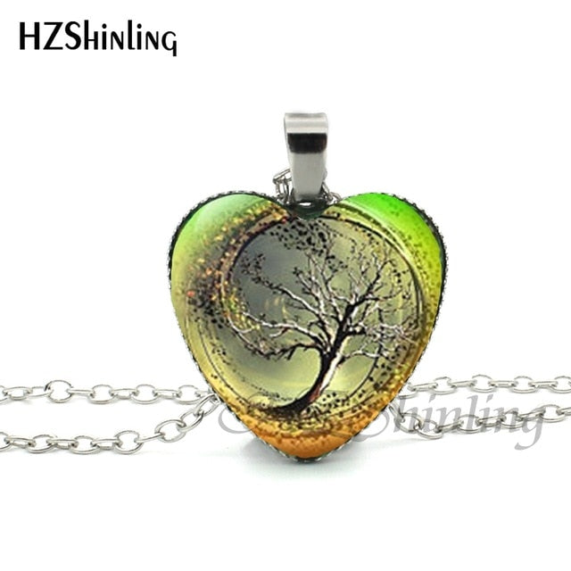 Divergent Tree Heart Necklace