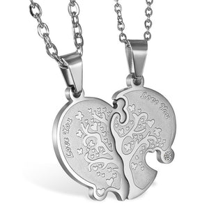 "2pc Valentine's Day  ""Love You"" Life Tree Necklace"