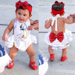 Cute Newborn Baby Girl Cartoon Sleeveless Romper Jumpsuit Summer Clothes Outfits Rompers