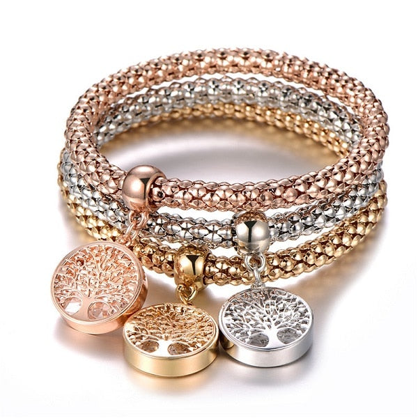 3Pcs Tree of Life Bracelet For Women