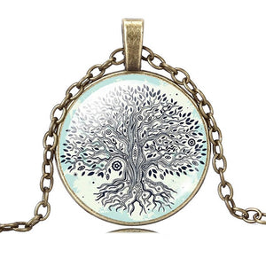 Tree Of life Dome Glass Pendant