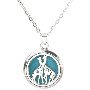 Tree of Life Stainless Steel Aroma Box Necklace Magnetic Aromatherapy Essential Oil