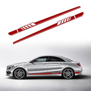 2pcs Car Styling Auto Side Body Vinyl Decals Racing Sports